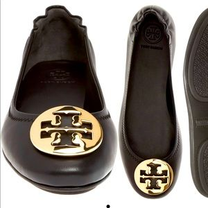 Tory Burch Leather Minnie Flat: Cloth Bag Included